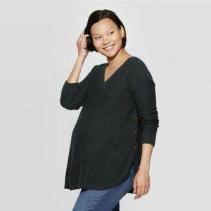 Ingrid & Isabel Maternity Sweater Green Size XS